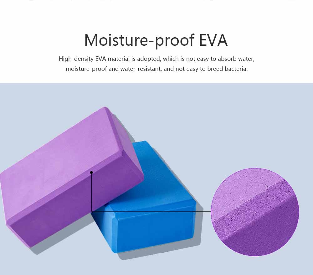 Colorful Cork Yoga Block EVA Moisture-proof Massage Tile Healthy Assist for Practitioners Fitness Environment Training Brick 5