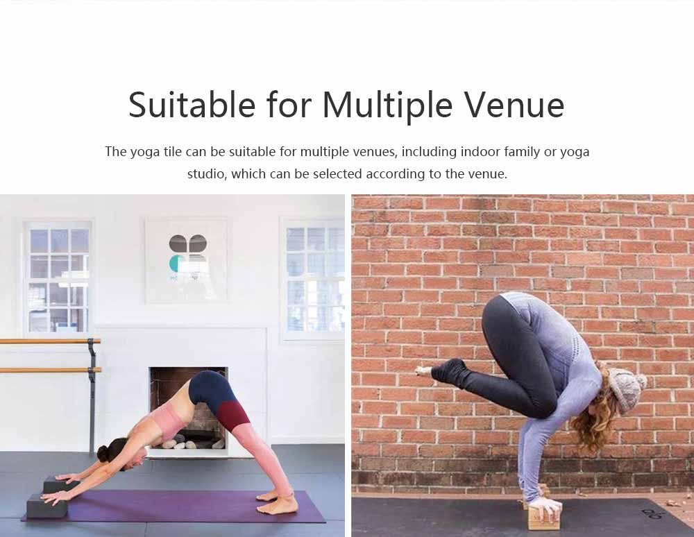 Cork Yoga Brick EVA Non-slip Training Tile Assist for Practitioners Fitness Environment Massage Yoga Block 2