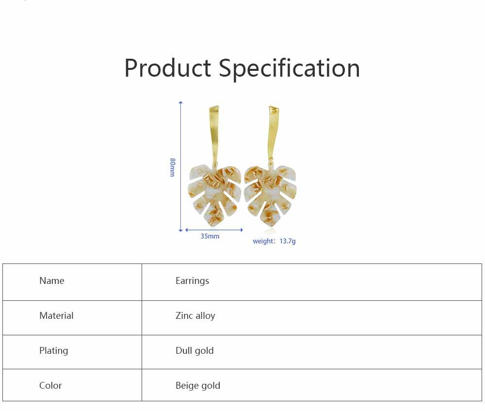 Ear-bob Zinc Alloy Material Ear Pendant Electroplating Process Maple Leaf Earring Decoration  Fashionable Earrings 6