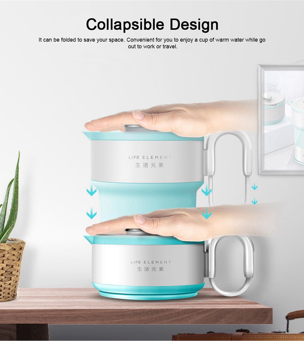 Portable Electric Compressed Kettle, Food Grade Silicone Collapsible Electric Kettle for Travel 3