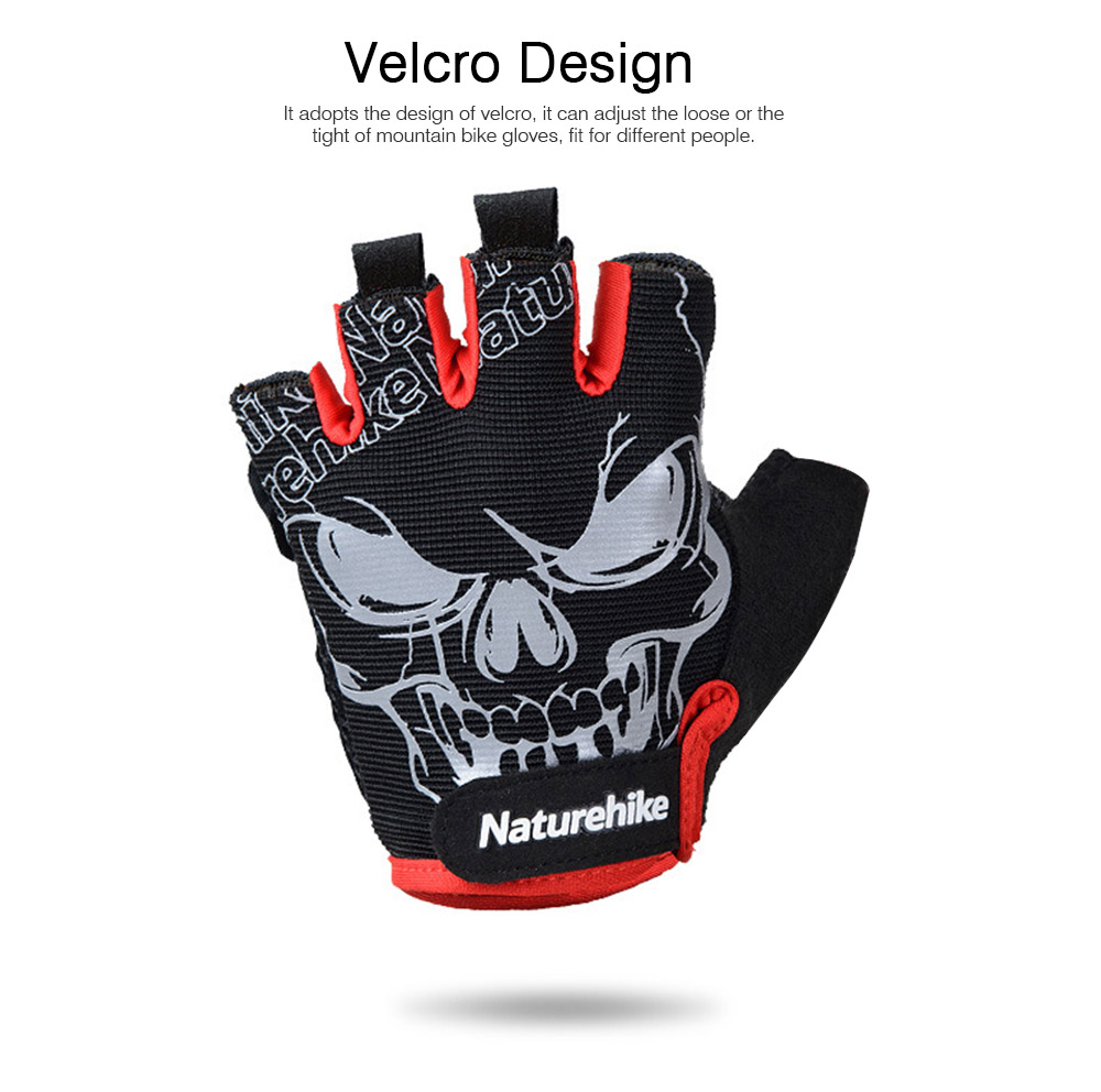 Men Women Outdoor Comfortable Sports Bicycle Cycling Gloves Half Finger Breathable Non-slip Soft Shockproof Mountain Bike Gloves 4