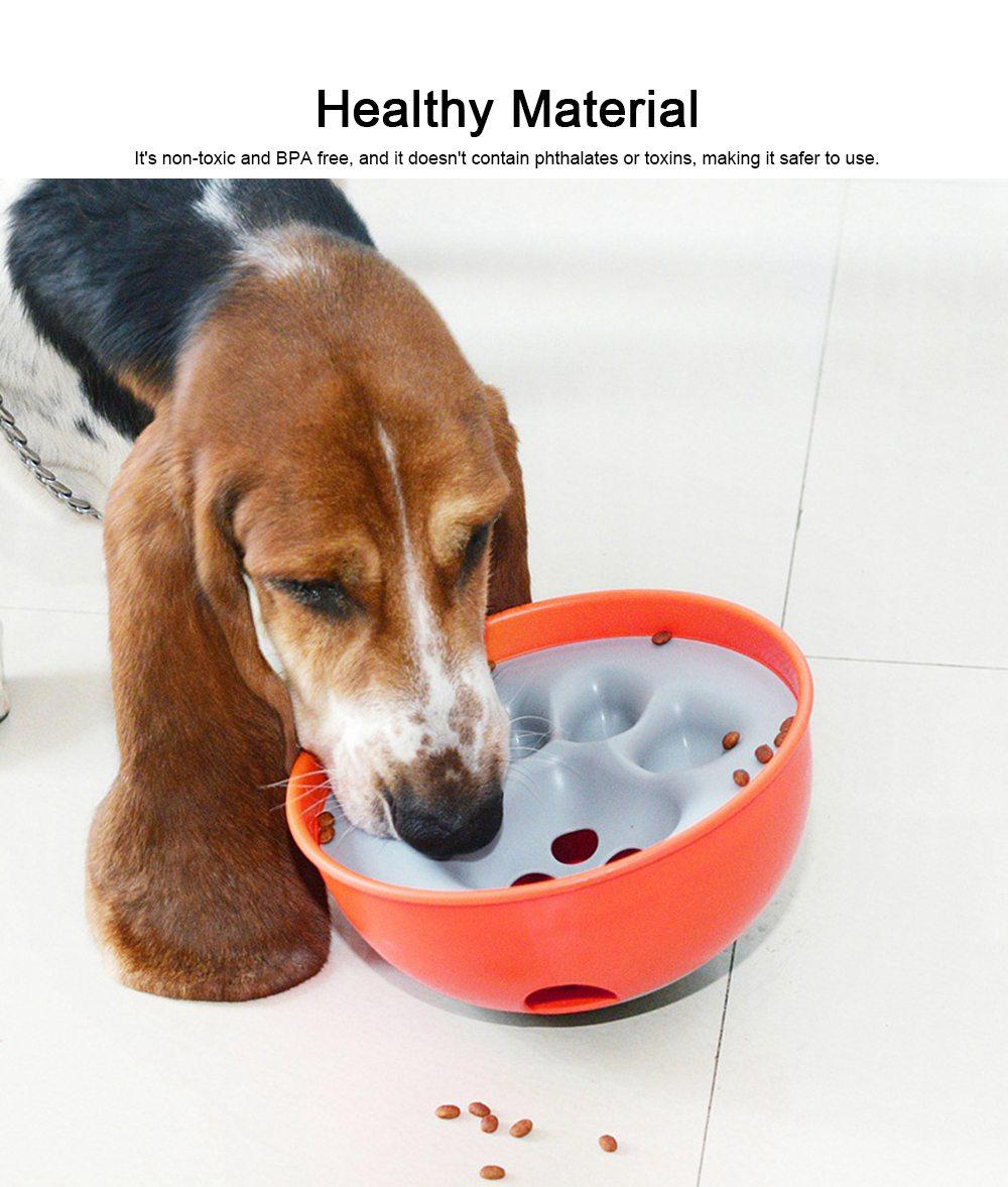 Anti-Chocking Pet Feeding Bowl Durable Anti-Bloat Eating Bowl Cat & Dog Brain Exercise Puzzle Toy 2