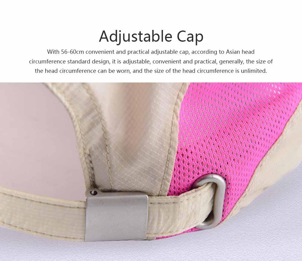 Outdoor Sport Running Baseball Mesh Hat Quick-drying Summer Visor Breathable Cap for Camping Hiking 3