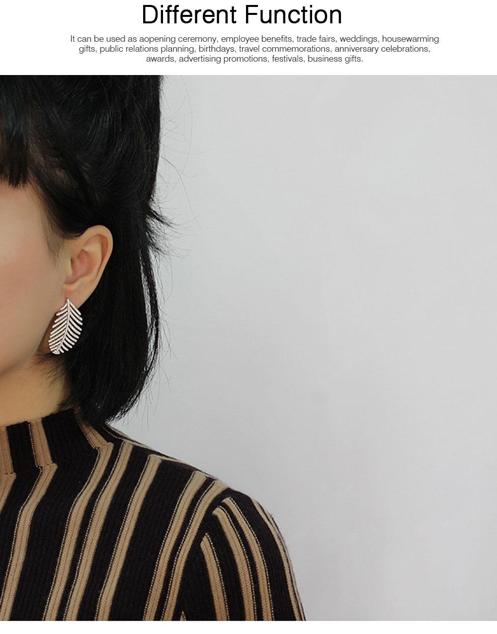 Sparkling Diamond Leaves Stud Earring 925 Pure Silver Simple Little Fresh Sweet Earrings Korean Design Stud 2019 New Earrings 5