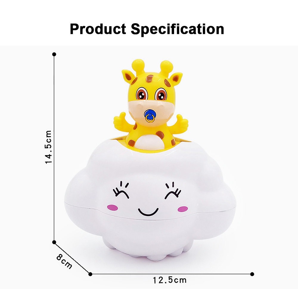 Bath Toy for Children Educational Toys Deer Pig Cloud Shaped Water Playing Toy 5