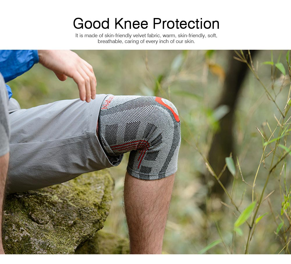 Anti-slip Sports Knee Pad Nylon High Elasticity Knee Support Guard Outdoor Mountaineering Cycling Fitness Breathable Stretch Knit Protector Gear 5