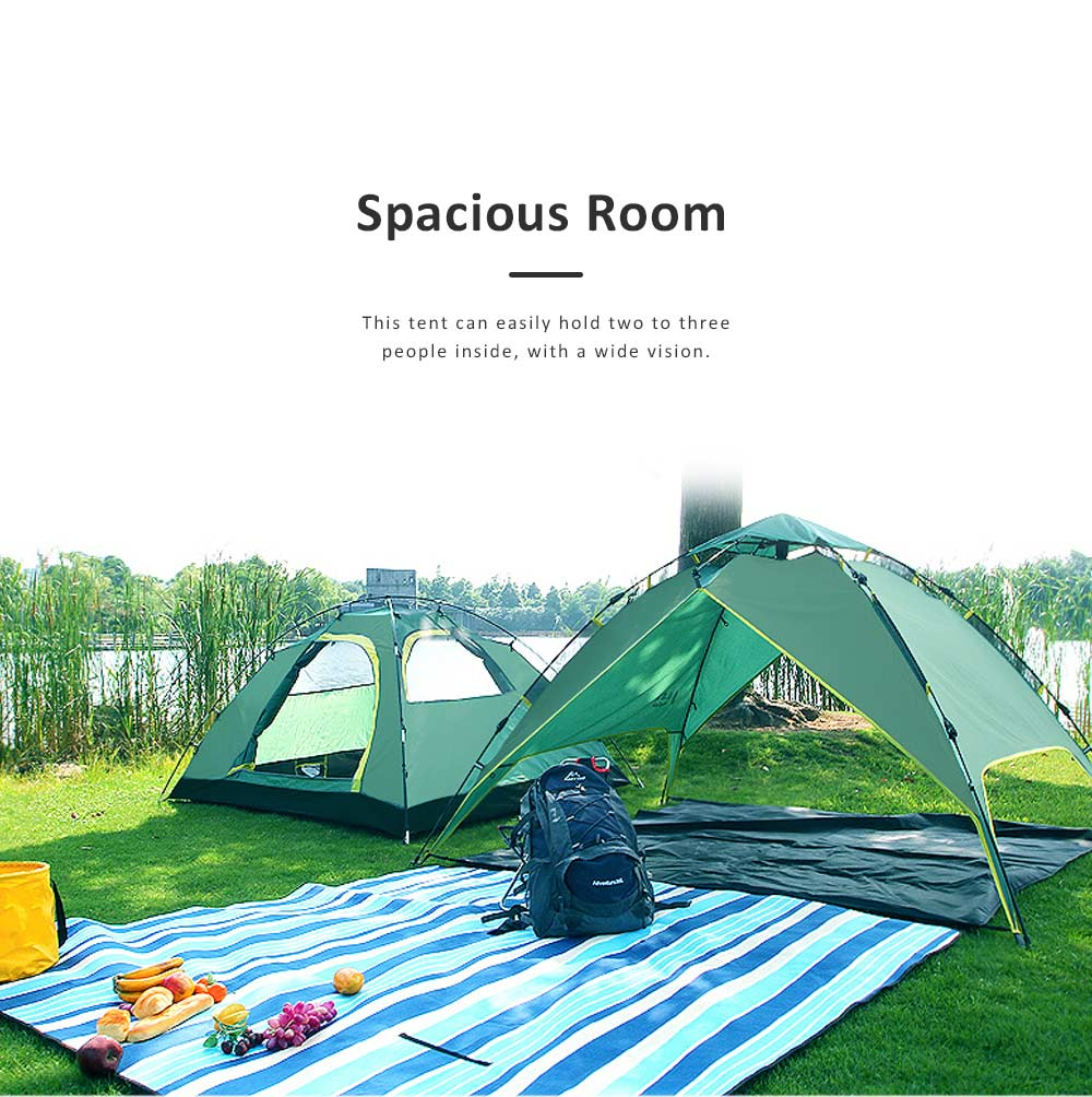 Quickly Pop Up Opening Automatically Tent for Two to Four People, High Quality 180T Sunscreen Proof Material Camping Tent for Beach Traveling Hiking 4