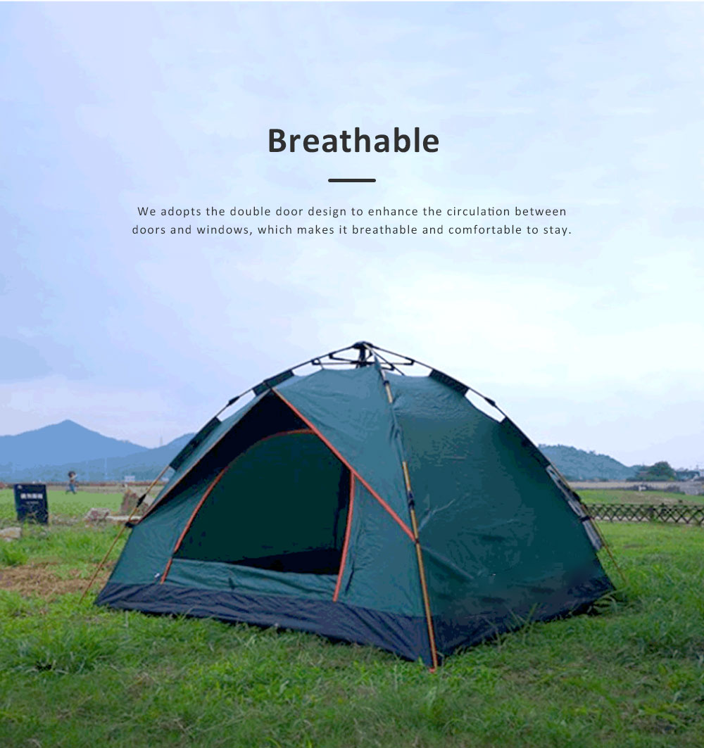 Quickly Pop Up Opening Automatically Tent for Two to Four People, High Quality 180T Sunscreen Proof Material Camping Tent for Beach Traveling Hiking 6
