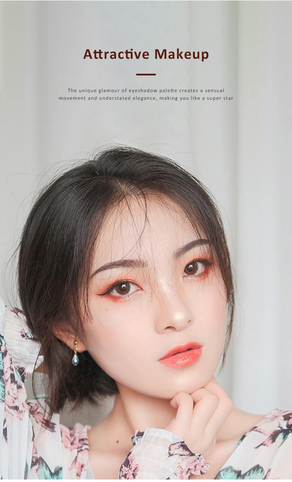 Compact Eyeshadow Palette Matte Waterproof 5 Colors Eye Makeup Natural Smoky Eye Shadow Cosmetic 5