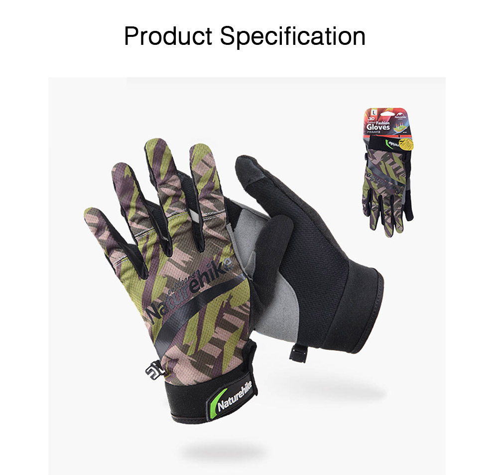 Unisex Spring Summer Anti Slip Sun Protection Cycling Climbing Riding Motorcycle Sport Mountain Bike Gloves 8
