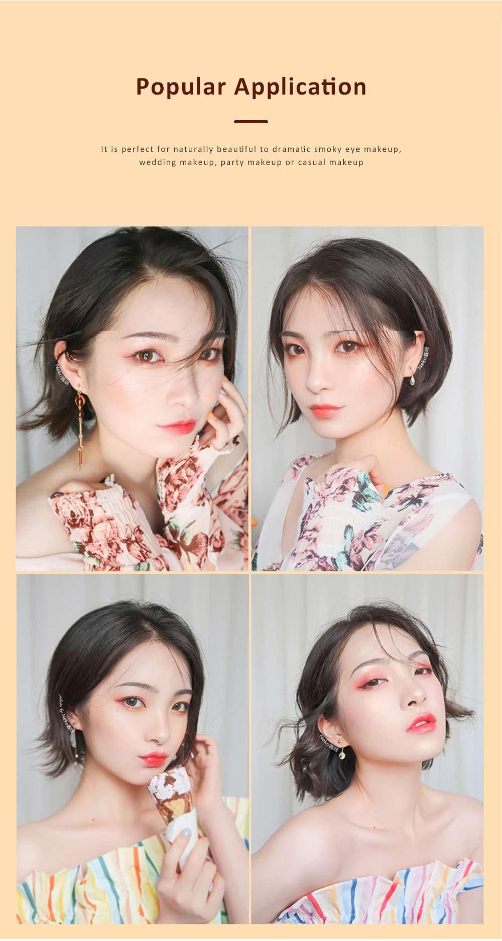 Compact Eyeshadow Palette Matte Waterproof 5 Colors Eye Makeup Natural Smoky Eye Shadow Cosmetic 3