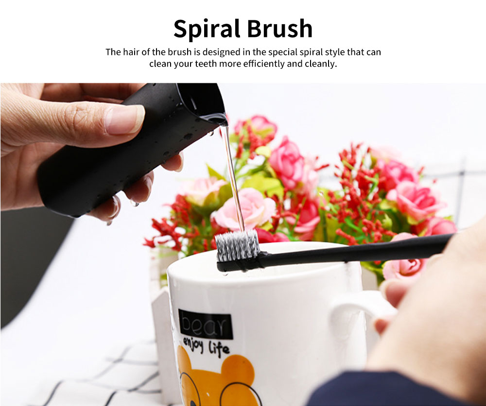 Portable Toothbrush Set PP Material Soft Toothbrush with Case for Traveling Ideal for Couple 3