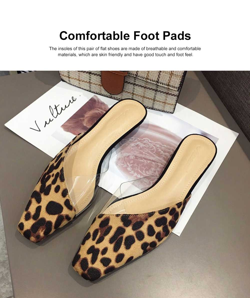 Summer Flat Shoes Ladies Fashion Slippers Leopard Tip Binding Pointed Backless Loafer Mueller Shoes 2019 New 5