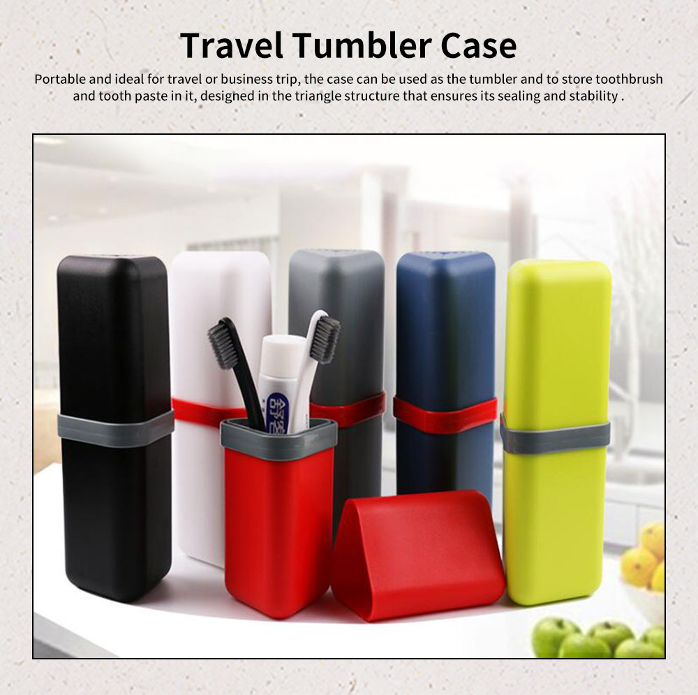 Travel Tumbler Case Portable Storage for Toothbrush and Tooth Paste for Travel & Business Trip 0