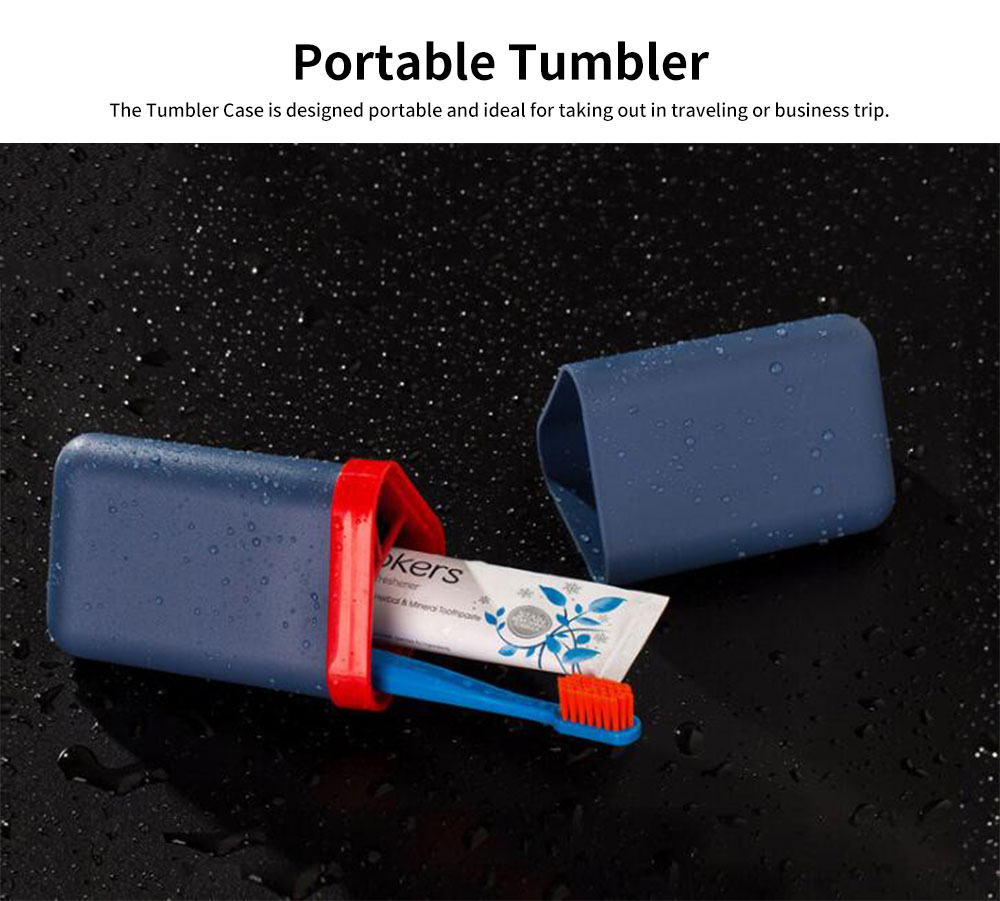 Travel Tumbler Case Portable Storage for Toothbrush and Tooth Paste for Travel & Business Trip 1