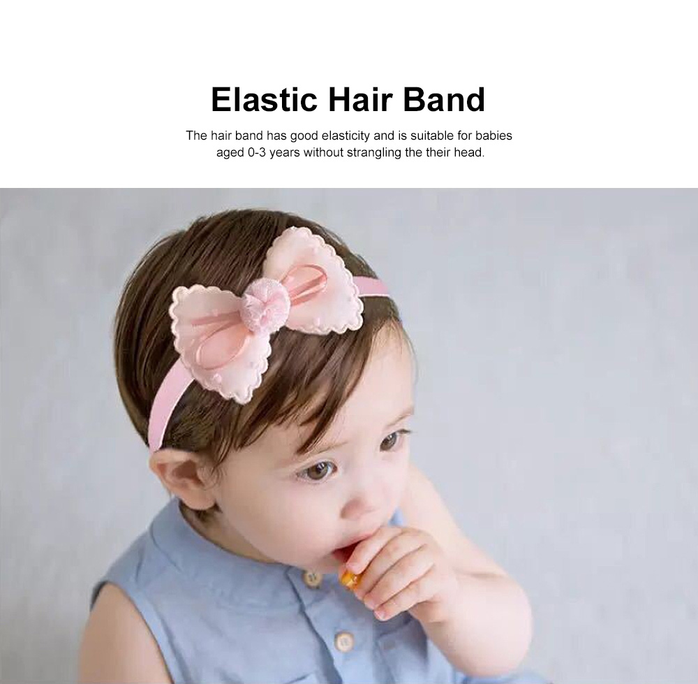 Girls Bow Headdress Lace Stylish Cute Headband Elasticity Children Crown Headband Set Baby Hair Accessories 3