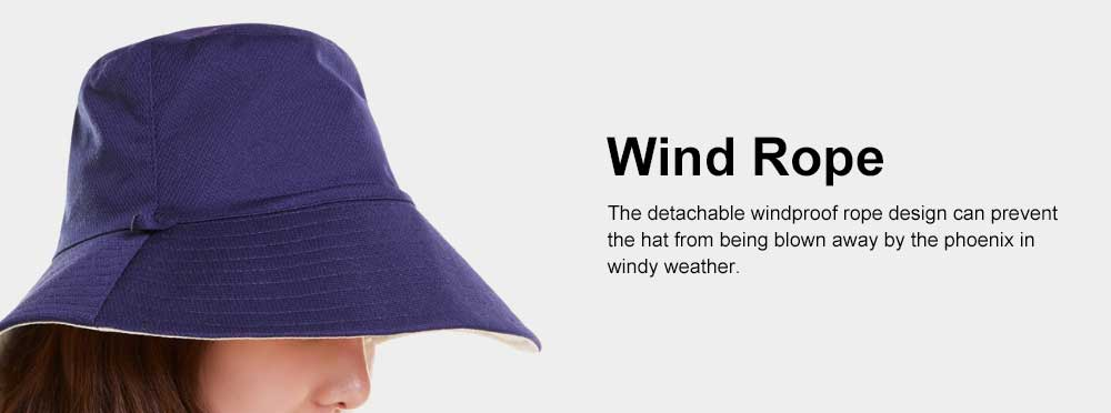 Double-sided Bucket Hat Polyester Ladies Korea Simple All-matched Big-brimmed Outdoor Sun Hat Spring Summer 5