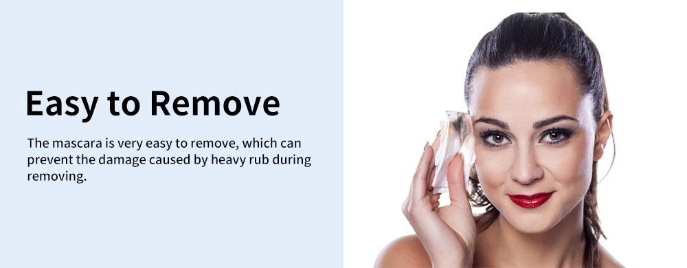 Water & Sweat-proof Mascara, Black Long Lasting Lengthening Thickening Curving Volume Eyelashes Make-up Mascara 3