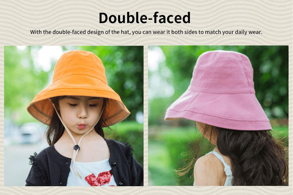 Sun-proof Bucket Hat for Children & Kids Cotton & Linen Spring Summer Sun Hat for Girls & Boys 5