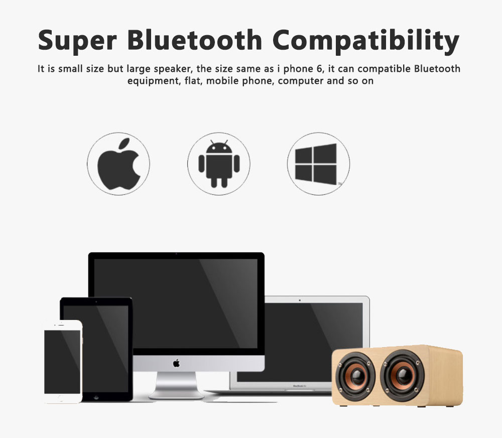 Outdoor Wood Pattern Wireless Bluetooth Speaker Portable Phone Computer Retro Radio Audio For Car Subwoofer Dual Speaker Support TF card 10