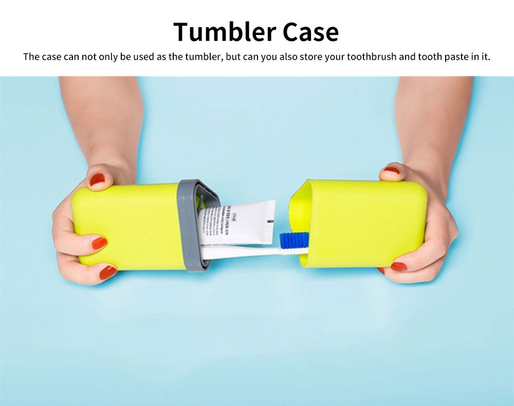 Travel Tumbler Case Portable Storage for Toothbrush and Tooth Paste for Travel & Business Trip 2