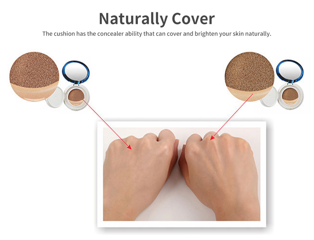BB Cream Air Cushion Cover Moisturizing Hydrating Makeup Foundation Concealer Light Long Lasting Face Cushion 3
