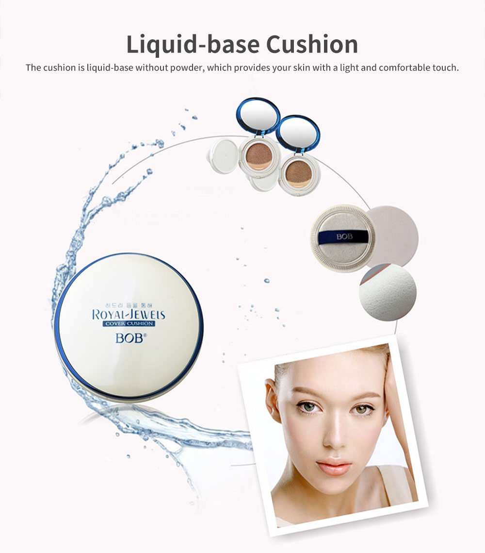 BB Cream Air Cushion Cover Moisturizing Hydrating Makeup Foundation Concealer Light Long Lasting Face Cushion 1
