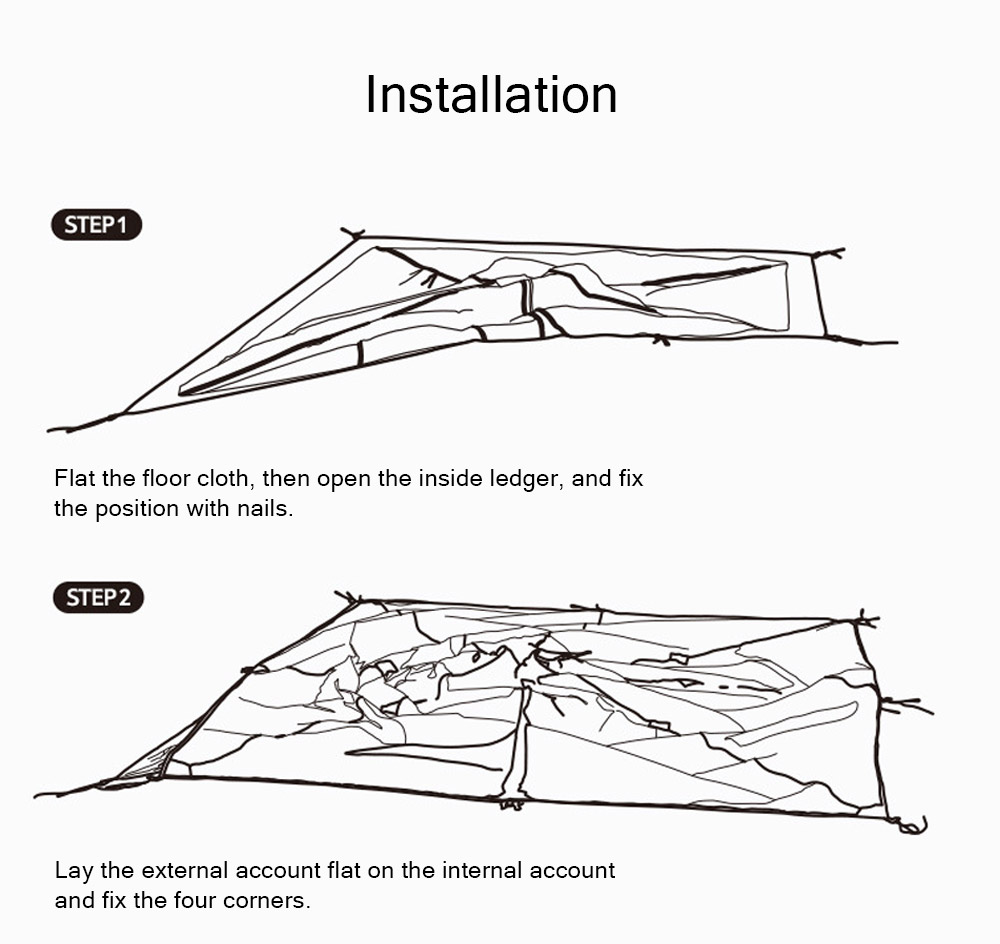 Naturehike Rain-proof Camping Tent Ultra-Light Outdoor Double-Layer Silica Single Tower Sky Tent 12