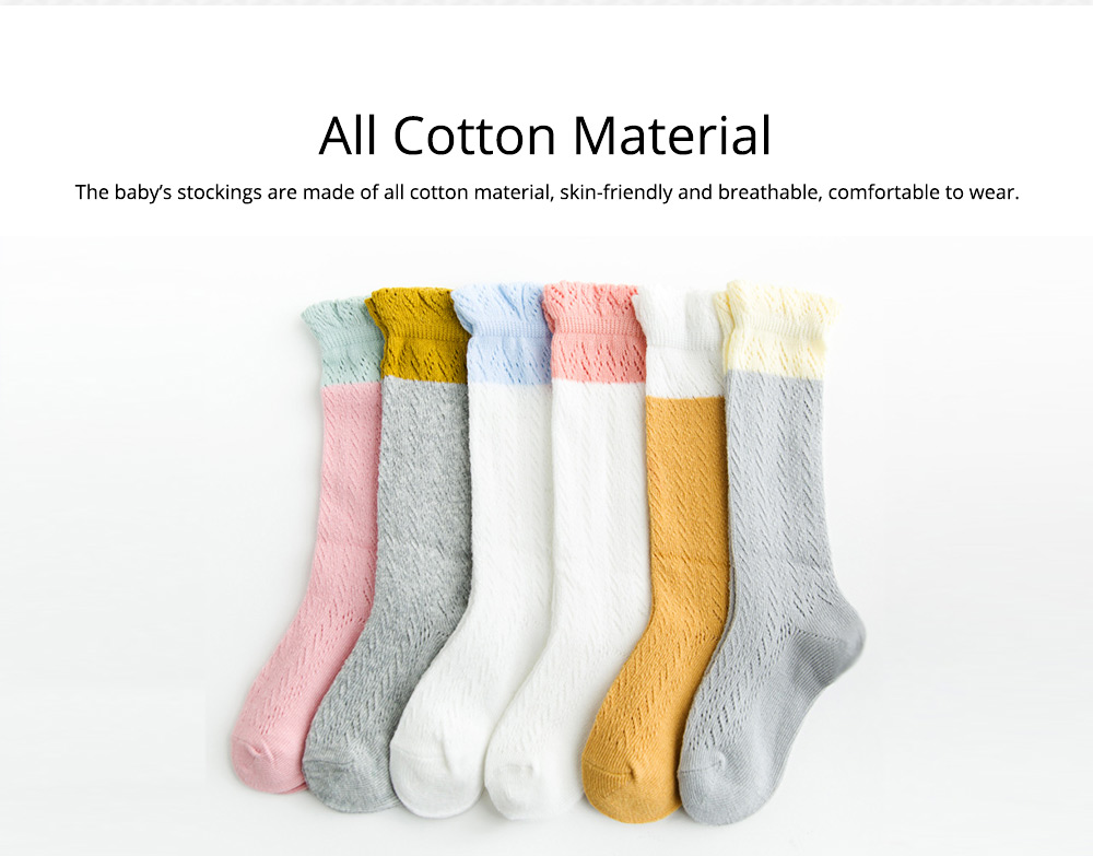 Baby Stockings All Cotton Mesh Breathable Loop Transfer Leggings Anti-mosquito Stockings Spring Summer New 1