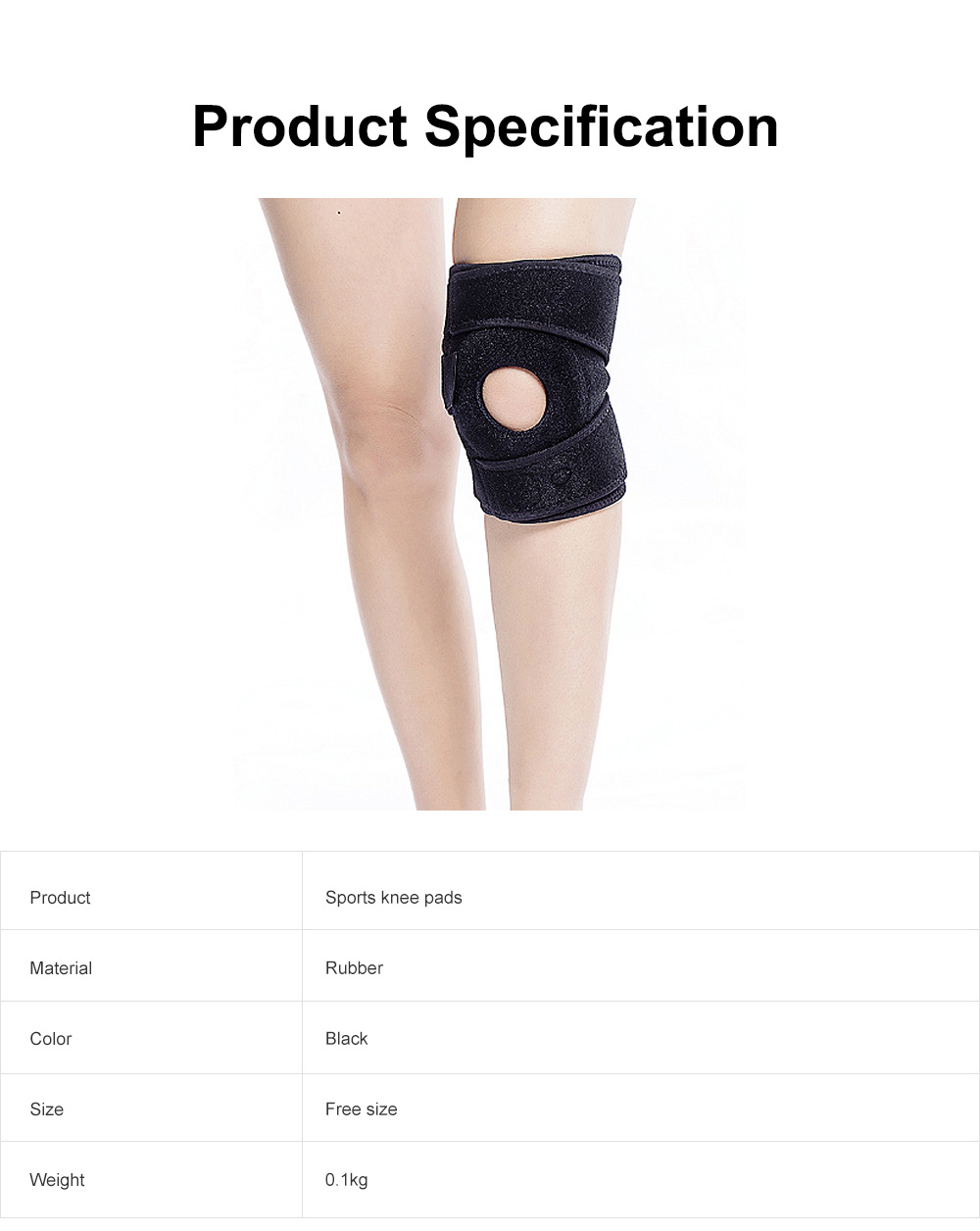 Sports Knee Pad Breathable Elasticity Basketball Cycling Fitness Running Outdoor Protective Equipment Adjustable Pad 6