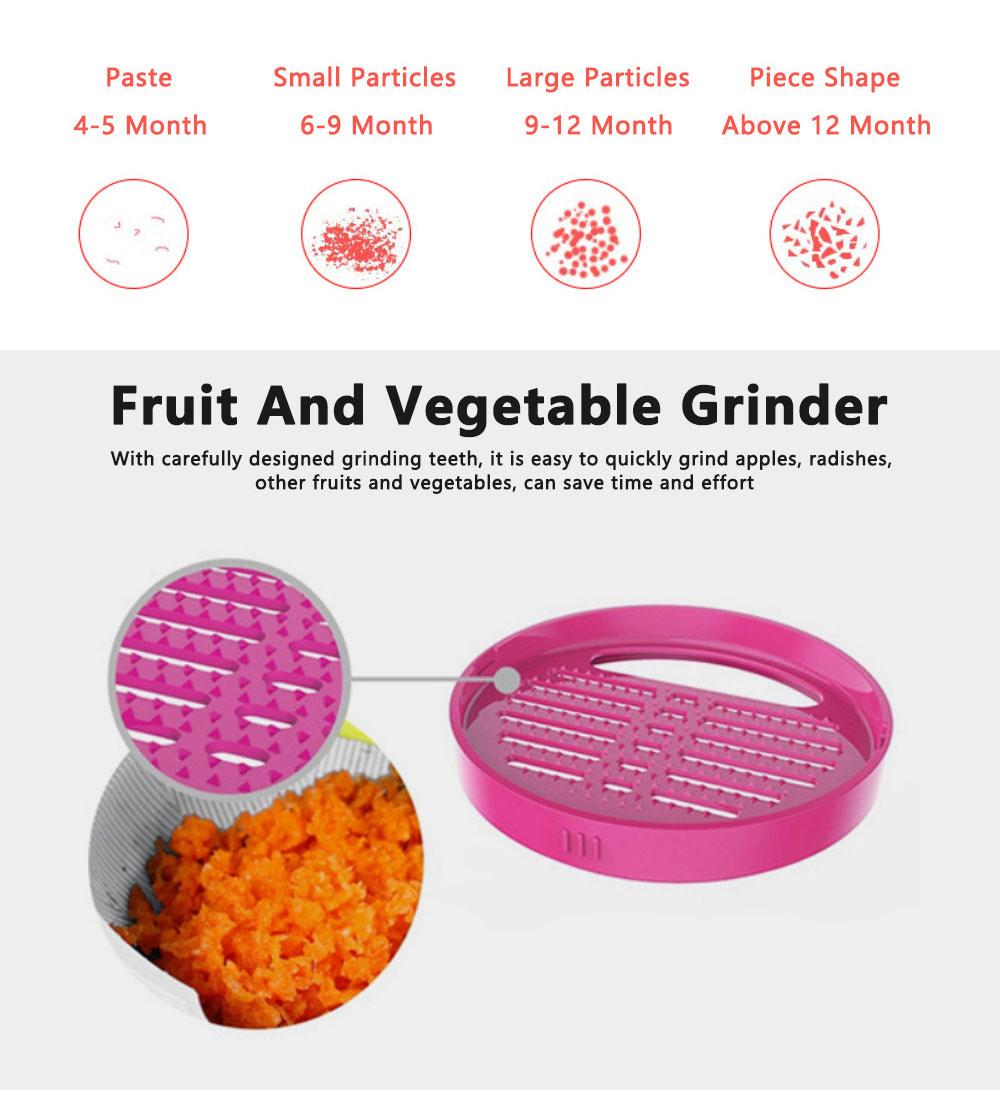 Portable Multi-functional Reusable Baby Food Blender Processor Set Maker Grinder Fruit Vegetable Meat Manual Making Homemade 1