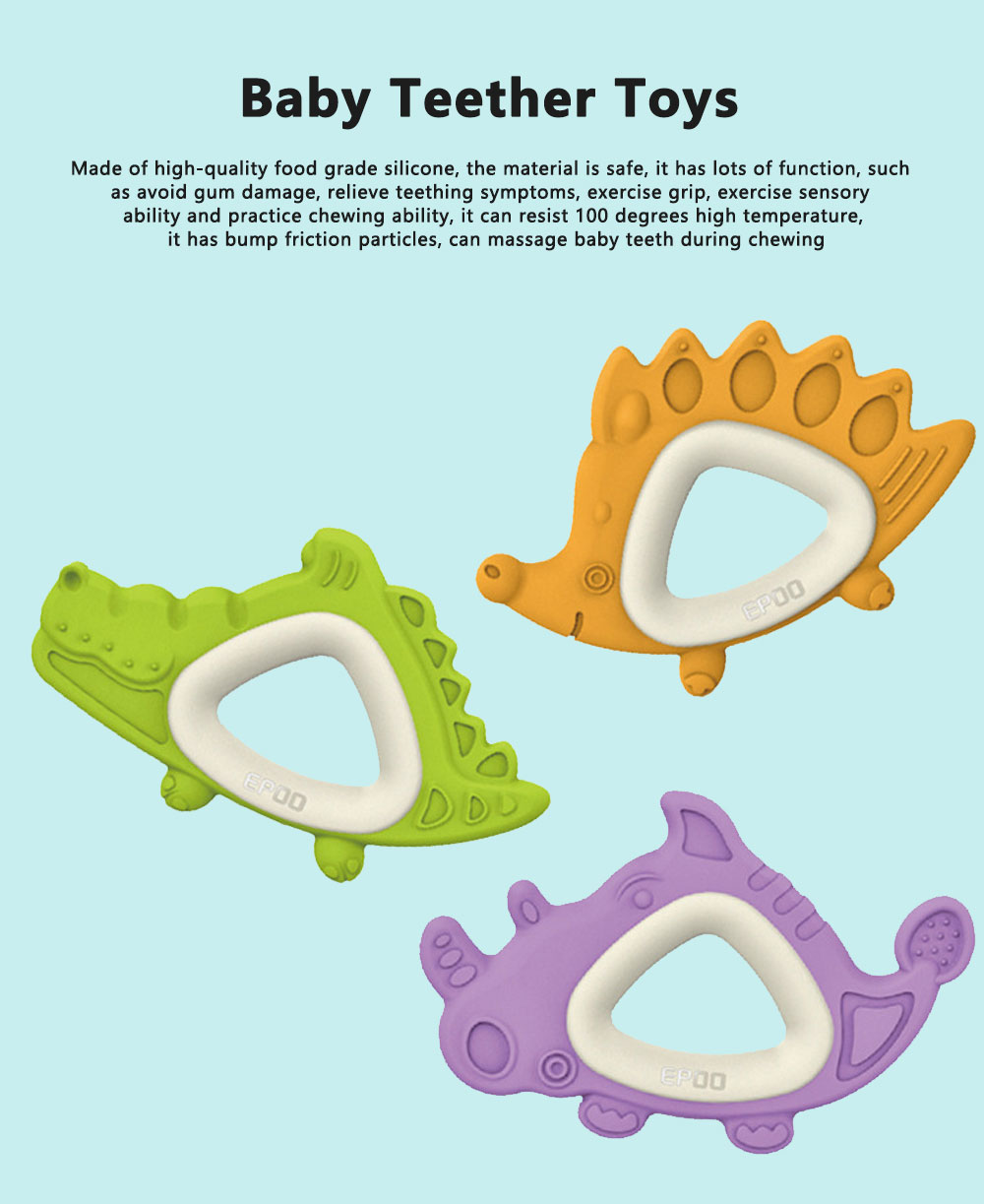 Hot Sell New Design Baby Teether Toys Soft Molars Solid Safe Food Grade Organic High Quality Silicone Teething 0