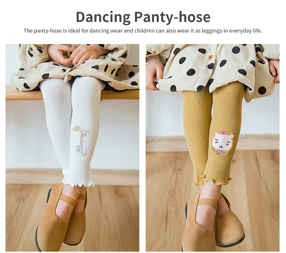 Pure Cotton Panty-hose for Girls Dancing Stocking with Cute Cartoon Patterns for Children Baby 1-8 Years Kids Leggings 4