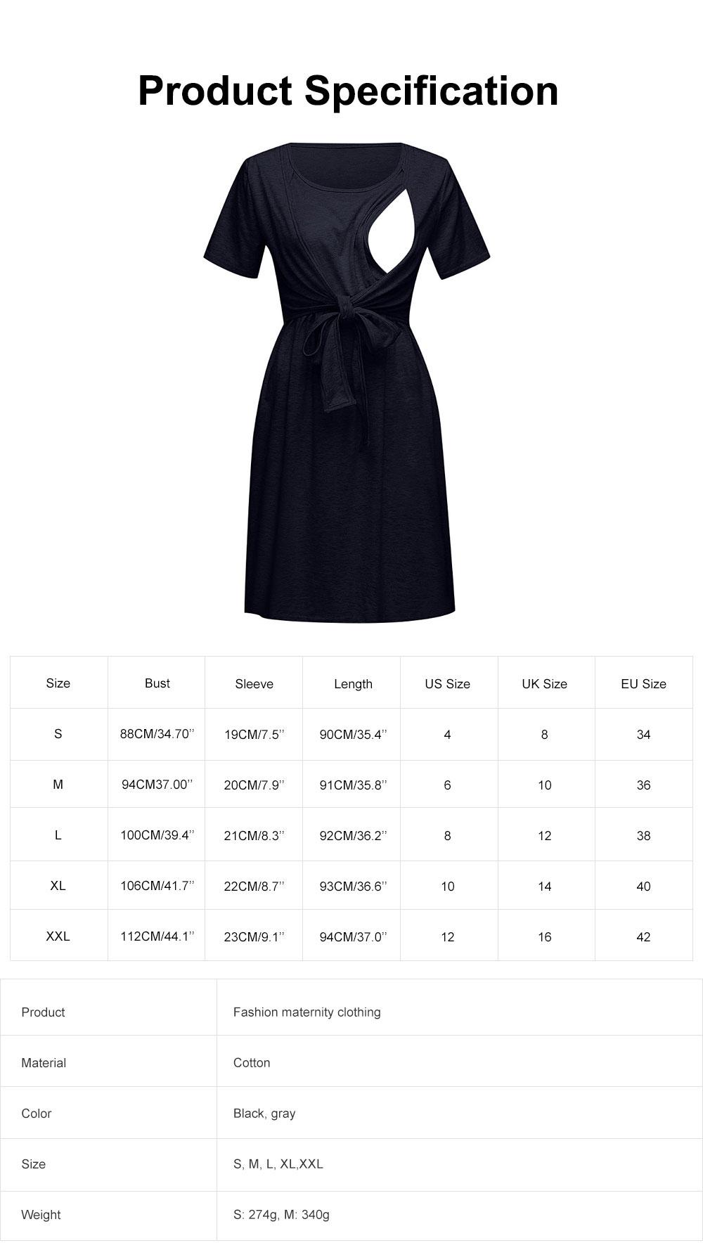 Lady's Nursing Dress Round Neck Soft Cotton Maternity Clothing Dress Fashion 2019 Summer 6