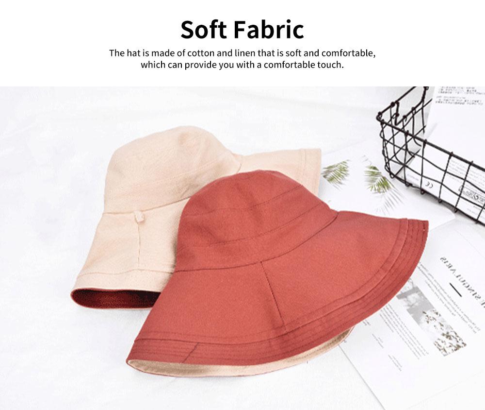 Sun-proof Bucket Hat for Children & Kids Cotton & Linen Spring Summer Sun Hat for Girls & Boys 1