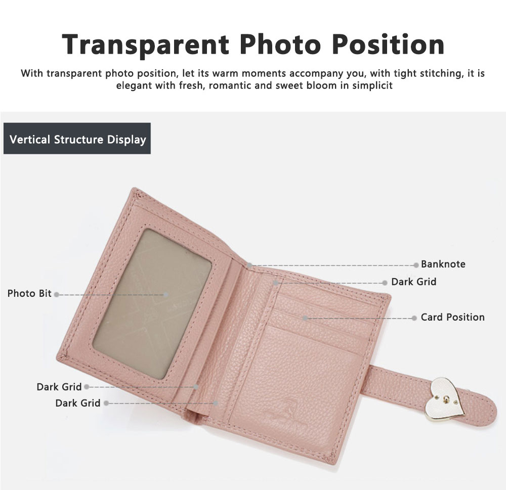 Fashion Women Wallet Girl Mini Cowhide Short Coin Leather Bow Vertical And Horizontal Purse Credit Card Holder Organizer Pocket Classic Solid 2 Fold Type 6