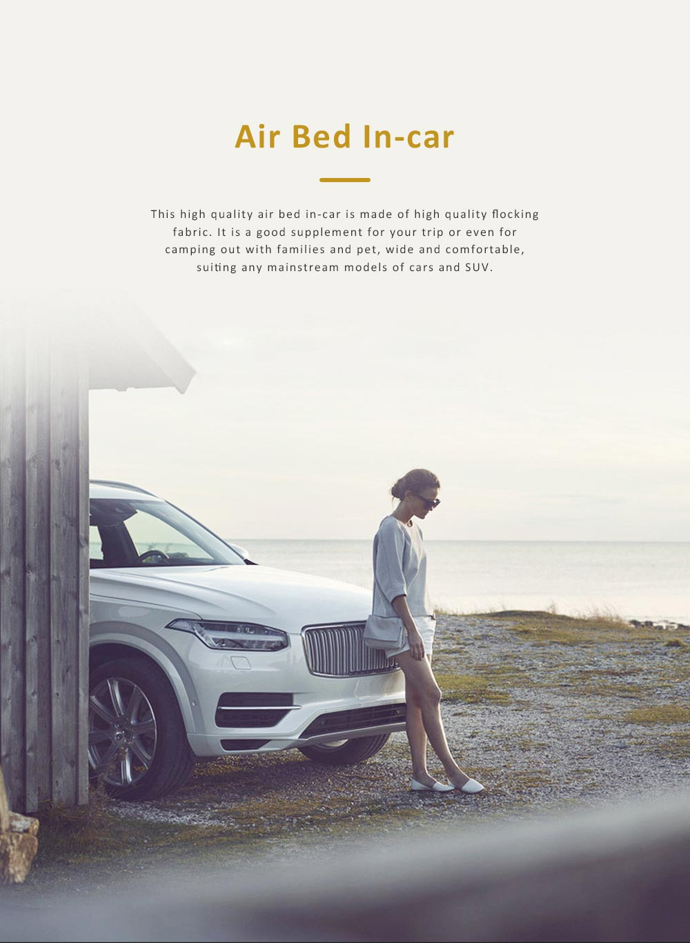 High Quality SUV Air Bed In-car for Traveling Camping Outdoor Activities, Flocking Fabric Sports Car Travel Mattress 0