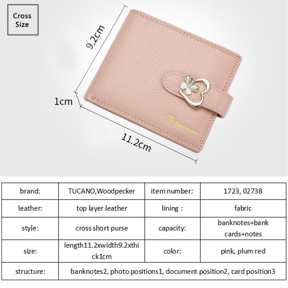Fashion Women Wallet Girl Mini Cowhide Short Coin Leather Bow Vertical And Horizontal Purse Credit Card Holder Organizer Pocket Classic Solid 2 Fold Type 9