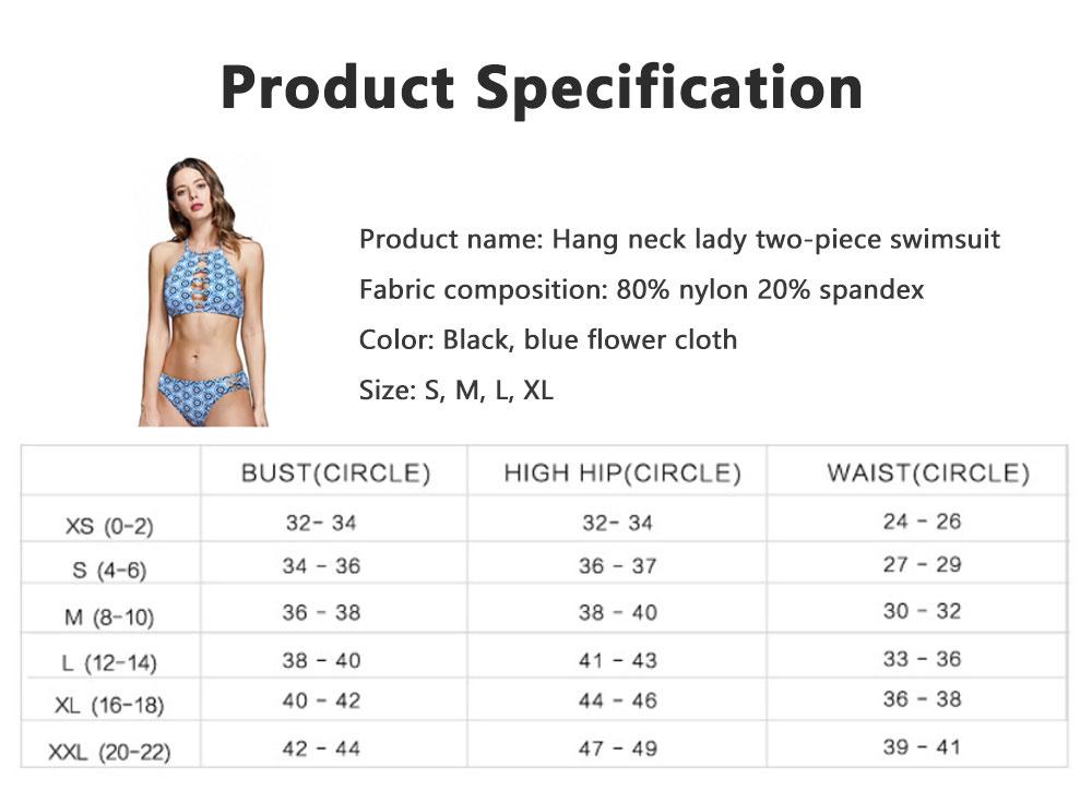 Hang Neck Sexy Women Bikini Foreign Trade Split Swimsuit Cross Two-piece Lady Cross Strap Front Cut Out Swimwear 4
