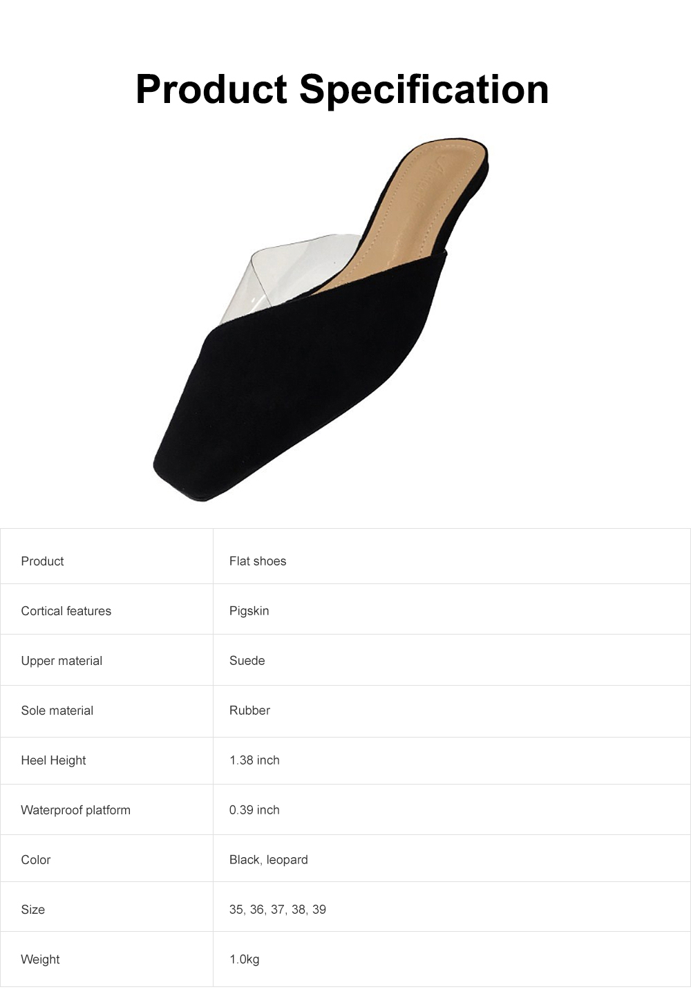 Summer Flat Shoes Ladies Fashion Slippers Leopard Tip Binding Pointed Backless Loafer Mueller Shoes 2019 New 6
