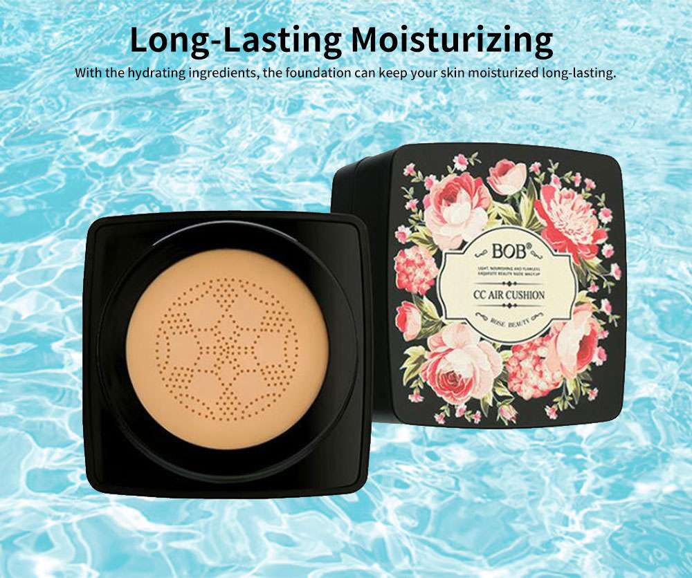 BB Cream Cushion Moisturizing Hydrating Covering Oil-control Make-up Foundation, Long Lasting CC Face Cream Concealer 2