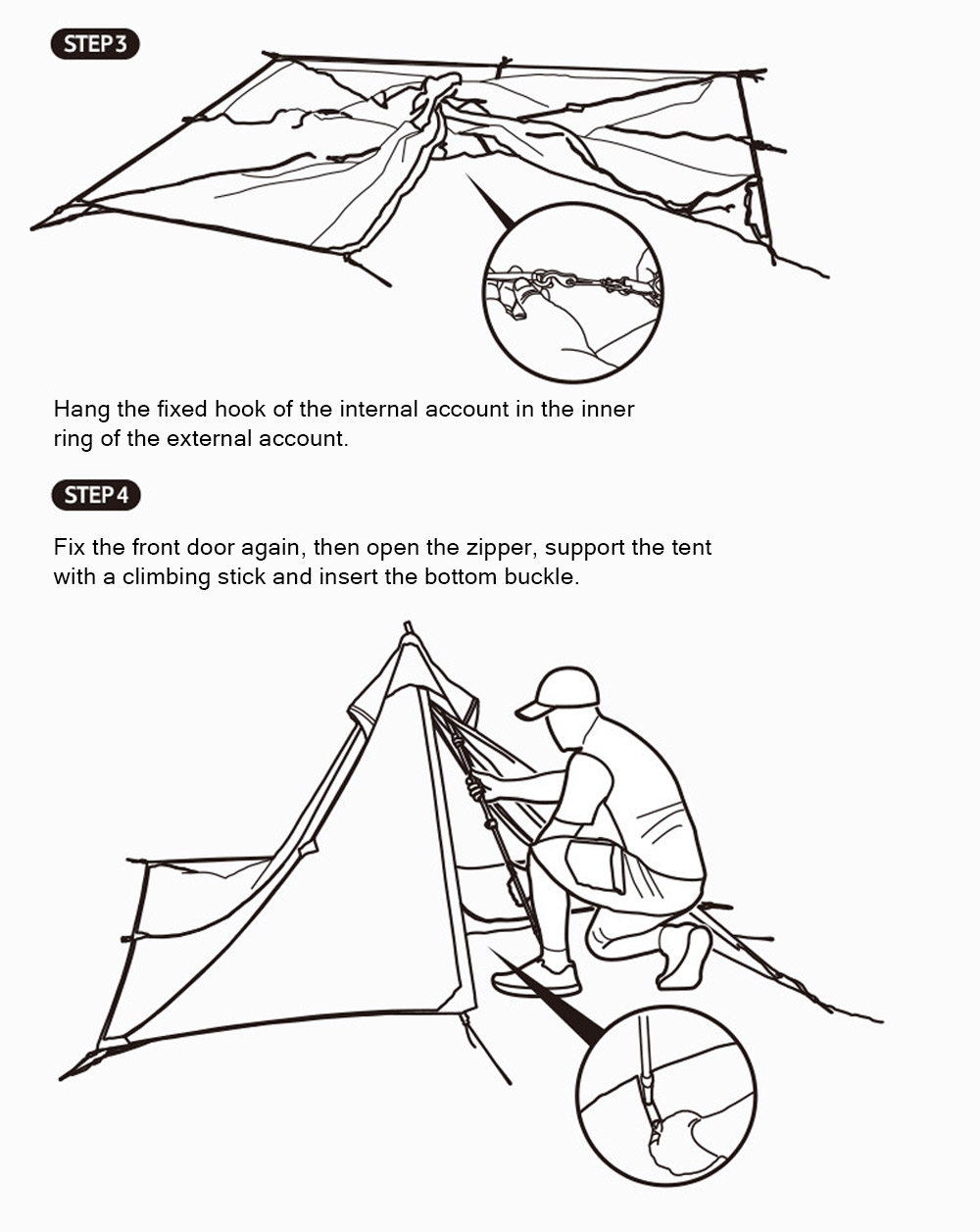 Naturehike Rain-proof Camping Tent Ultra-Light Outdoor Double-Layer Silica Single Tower Sky Tent 13