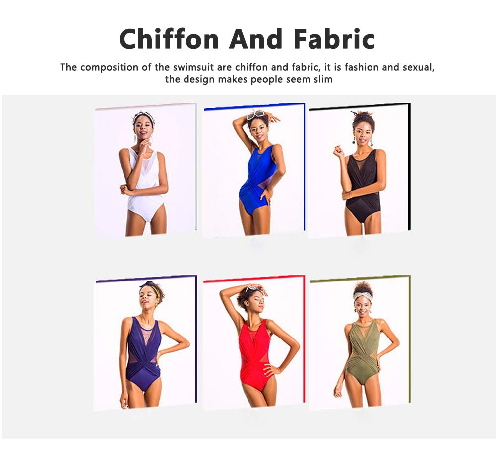 Fashionable Sexy One Piece Swimsuit Bathing Women Swimwear, Siamese Triangle Solid Color Slim Slimming Belly Suit 6 Colors Option 5