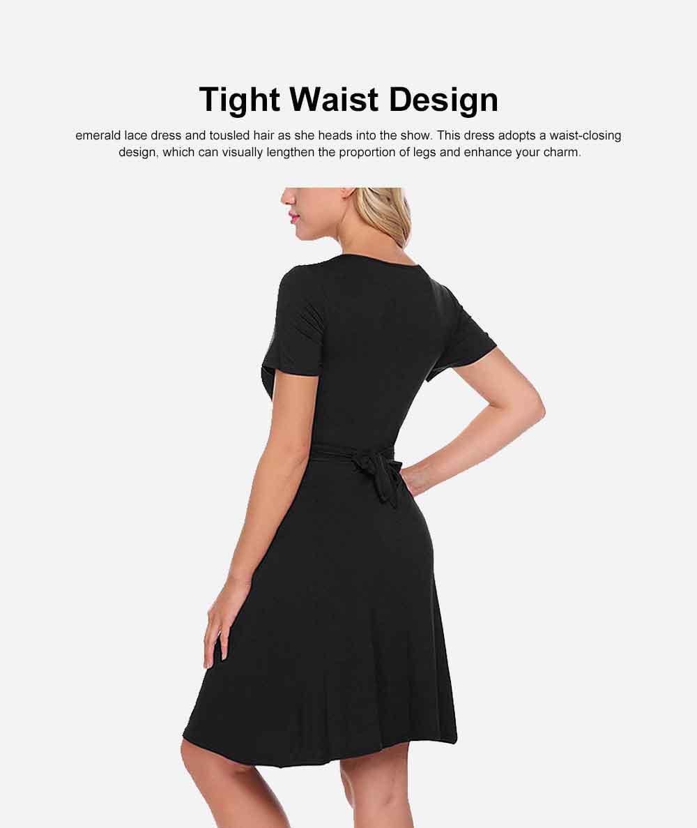 Lady's Nursing Dress Round Neck Soft Cotton Maternity Clothing Dress Fashion 2019 Summer 3