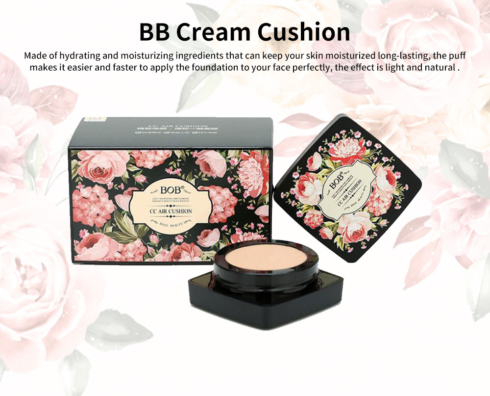 BB Cream Cushion Moisturizing Hydrating Covering Oil-control Make-up Foundation, Long Lasting CC Face Cream Concealer 0