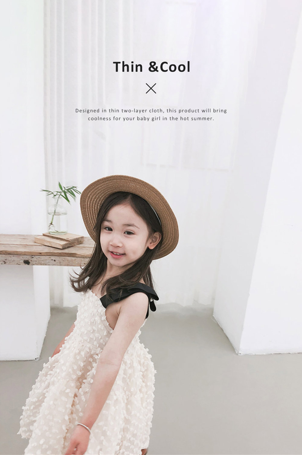 2019 Latest French Court Style One-piece Dress for Children, Sweet Cute Cotton Material Children Princess Dress 3