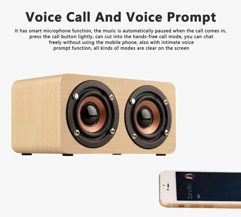 Outdoor Wood Pattern Wireless Bluetooth Speaker Portable Phone Computer Retro Radio Audio For Car Subwoofer Dual Speaker Support TF card 6