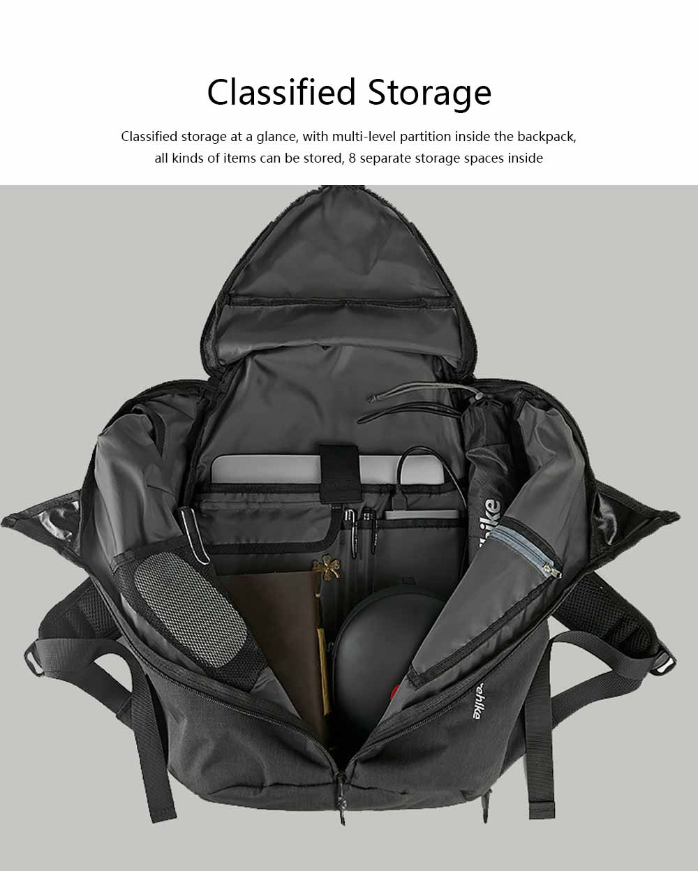 Multifunctional Casual 31L Large Capacity Unisex School Backpack Computer Waterproof Polyester Travel Sport Laptop Backpack 8