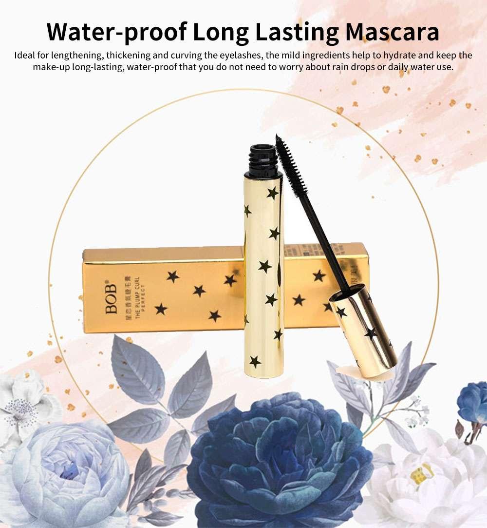 Water-proof Long Lasting Mascara, Lengthening Thickening Curving Volume Mascara, Black Eyelashes Make-up 0