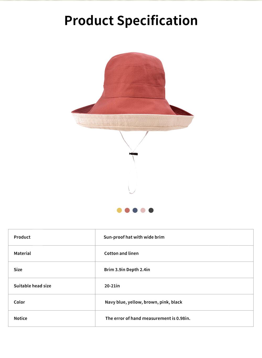 Sun-proof Bucket Hat for Children & Kids Cotton & Linen Spring Summer Sun Hat for Girls & Boys 6